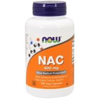 NOW FOODS诺奥N-乙酰半胱氨酸 NAC 600mg100粒 维护细胞健康