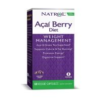 Natrol Acai Berry巴西莓绿茶抗氧化纤体胶囊 60粒 减重清肠