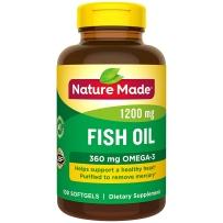 Nature Made  深海鱼油1200mg +Omega-3 360mg 软胶囊 100粒