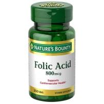 Nature's Bounty 自然之宝 Folic Acid 叶酸片 800mcg 250粒