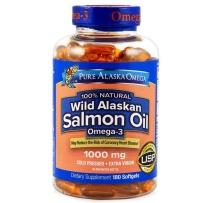 Pure Alaska Omega 阿拉斯加纯净野生三文鱼油1000 mg, 180粒