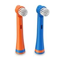 BRUSHEEZ Brusheez 动物造型儿童电池电动牙刷替换装 3岁以上儿童 小熊款替换 2支装