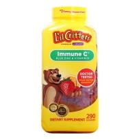 L'il Critters小熊糖 维生素C+维D补锌软糖290粒 增强免疫力 改善食欲