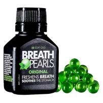 Breath Pearls 呼吸珍珠原味清新呼吸 50粒软胶囊 去口臭除口气口腔清新除异味