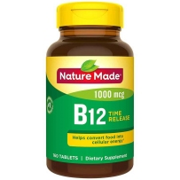 Nature Made 莱萃美 天唯美 维生素B12 缓释片1000mcg 160粒 预防贫血