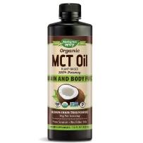 美国 Nature's Way MCT Oil 纯椰子油  增肌油增肌减脂生酮饮食运动健身 480 ml