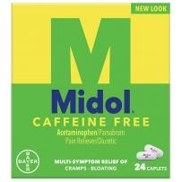 拜耳Midol 痛经片绿盒女性月经疼痛缓解无咖啡因知乎推荐24片