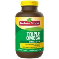 Nature Made 复合鱼油 Triple Omega 3-6-9 软胶囊 180粒