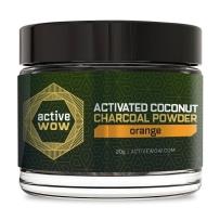 Active Wow 纯天然有机木炭速效美白洗牙粉 20g 不能替代牙膏 橙子味