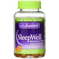 Vitafusion 小熊 SleepWell褪黑素倒时差褪黑素3mg 睡眠软糖60粒 改善睡眠