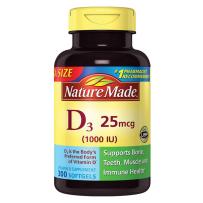 Nature Made 维生素D3 1000IU  300粒