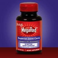 Schiff MegaRed磷虾油维骨力虾青素透明质酸353mg 60粒 关节护理