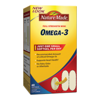Nature Made 迷你超级鱼油 Omega-3 60粒 易服易吸收