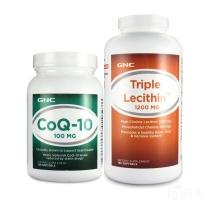 美国直邮GNC三重卵磷脂180粒+辅酶Q10 100mg 120粒 心脑健康保障