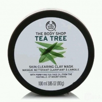美国The Body Shop茶树面膜清洁控油祛痘淡化痘印 100ml