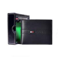 【现货】Tommy Hilfiger男士牛皮钱包专柜正品真皮汤米钱包 黑色
