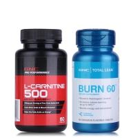 GNC健安喜左旋肉碱顽固型+瓜拉纳快速燃脂减肥塑形burn60