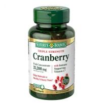 Nature's Bounty自然之宝蔓越莓胶囊25200mg 60粒卵巢泌尿
