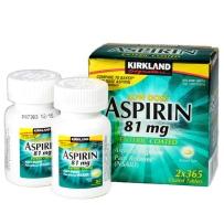 KIRKLAND Signature低剂量81mg阿司匹林ASPIRIN2瓶x365片