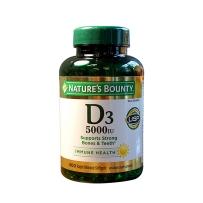 Nature's Bounty® 维生素D3软胶囊 5000 IU, 400粒