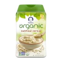 Gerber嘉宝 美国婴幼儿一段有机燕麦米粉辅食初期227g/罐
