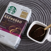 Starbucks 星巴克 非速溶烘焙黑咖啡粉 意式浓缩黑咖啡粉(深度烘焙)
