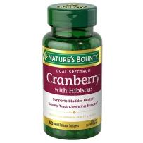 Nature's Bounty 自然之宝蔓越莓木槿花提取物软胶囊 60粒 成人女性健康