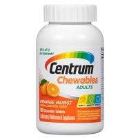 美国原装善存Centrum成人每日多种维生素矿物质补充100片咀嚼片 维生素D3