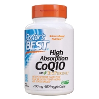 Doctor's best 高吸收辅酶Q10 保护心血管健康卵巢备孕软胶囊 200mg 180粒