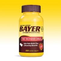 Bayer拜耳Aspirin阿司匹林肠溶片高剂量型325mg 500片疼痛牙疼晚期备用