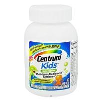 美国原装善存Centrum青少年儿童多种复合维生素片矿物质80粒三种水果口味