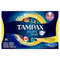 Tampax丹碧丝Pearl珍珠塑料卫生棉条短导管36支中号regular