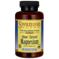 Swanson斯旺森 镁氨基酸螯合物90粒缓解肌肉痉挛疼痛运动后修复促进钙吸收