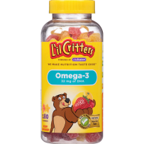 L'il Critters小熊糖Omega-3鱼油DHA 180粒
