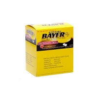 Bayer拜耳Aspirin阿司匹林肠溶片高剂量型325mg 简易装 50袋 一袋两粒