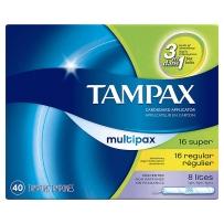 Tampax Pearl丹碧斯珍珠导管式运动卫生棉条混合40支