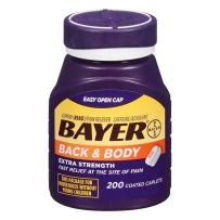 Bayer拜耳Aspirin阿司匹林肠溶片镇痛片500mg涂层 200片  缓解背部疼痛