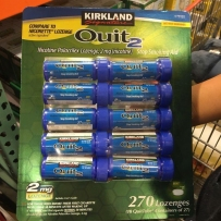 Kirkland柯克兰戒烟糖尼古丁可兰戒烟糖口含片薄荷味硬糖有效戒除烟瘾 2mg 270粒 10盒