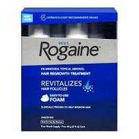 Rogaine for男士头发再生处理遗传性脱发4包泡沫解决方案