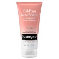 Neutrogena 露得清 粉红色葡萄柚无油祛痘洁面乳177ml 含维生素C和水杨酸消除痤疮洗面奶