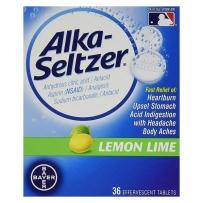 拜耳Alka-Seltzer Antacid柠檬味养胃泡腾片36粒弱碱缓解胃酸高涨气打嗝