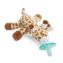 WubbaNub 可爱动物系列安抚奶嘴 婴儿长颈鹿奶嘴