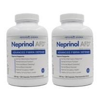 美国极酶孚镁络Neprinol AFD含纳豆激酶软胶囊降血压药血脂三高脑梗血栓中风偏瘫软化血管 300粒2瓶装