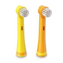 BRUSHEEZ Brusheez 动物造型儿童电池电动牙刷替换装 3岁以上儿童 长颈鹿款替换 2支装