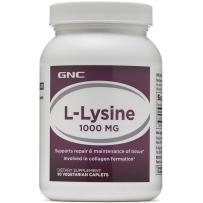 GNC L-赖氨酸 1000mg 90片 儿童青少年增高促进生长发育