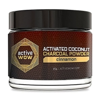Active Wow 纯天然有机木炭速效美白洗牙粉 20g 不能替代牙膏 肉桂
