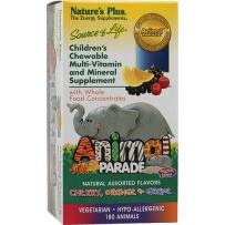 Nature's plus动物大游行儿童综合维生素矿物质咀嚼片 180粒