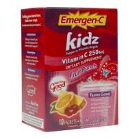 Alacer Emergen-C天然多种维生素VC儿童泡腾片粉 杂果味 10包