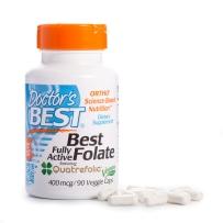 叶酸 备孕营养素活性 备孕必备 美国Doctor'sBest 400mcg 90粒