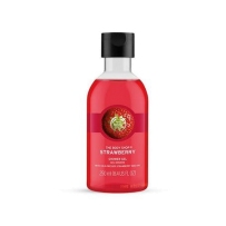 美国直邮 The body shop/美体小铺 草莓嫩白保湿清香甜美沐浴露 250ml